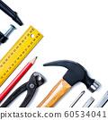 Carpenter's work tools. Carpentry. 60534041