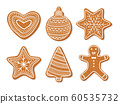 vector collection of ginger coockies 60535732