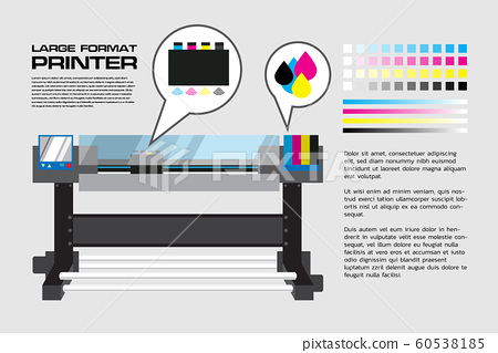 Large Format Printer with detail text 60538185