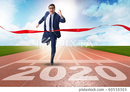 Businessman in new year 2020 concept 60538303