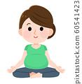 孕婦瑜伽女人圖 60541423