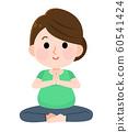 孕婦瑜伽女人圖 60541424
