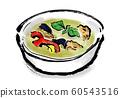 绿咖喱,烹饪/食物,咖喱,泰式咖喱,泰国食品,泰语,绿色,绿色,辛辣,香料, 60543516
