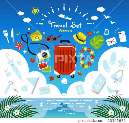 旅行套裝矢量簡單暑假 60545672