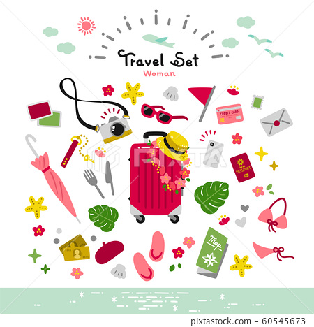 旅行套裝矢量簡單暑假 60545673