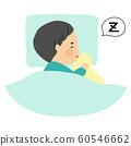 用核桃睡觉的孩子 60546662
