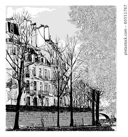Ile Saint Louis in Paris, France 60551767