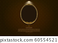 gold frame border circle picture gold thai art 60554521