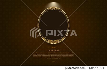 gold frame border circle picture gold thai art 60554521