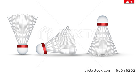 Set of Badminton shuttlecocks isolated 60556252