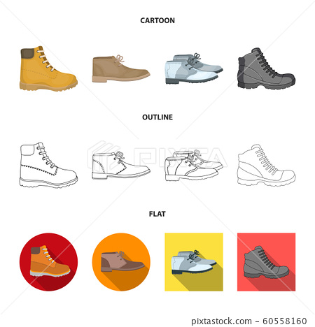 Vector design of leather and casual sign. Set of leather and formal stock symbol for web. 60558160