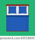Bed top view vector bedroom cartoon furniture 60558695
