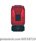Railway train transportation vector icon front 60558729