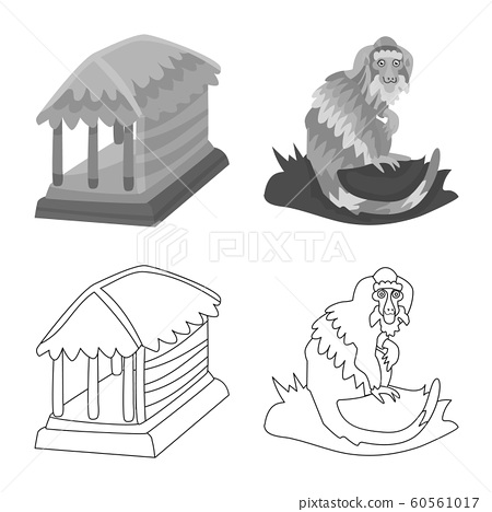 Isolated object of and travel icon. Set of and traditional stock vector illustration. 60561017