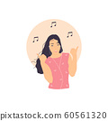 girl listening to music 60561320