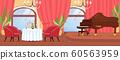 Romantic Date at Restaurant with Luxury Interior 60563959