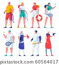 Different Professions for Man and Woman Flat. 60564017