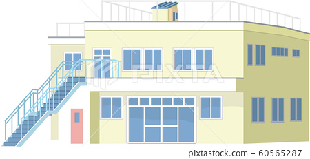 Nursery school building 2 - Stock Illustration [60565287 ...