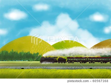 農村風景與蒸汽機車 60567168