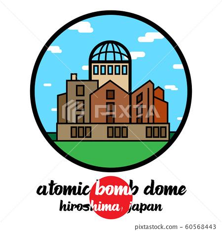 Circle icon atomic bome dome. vector illustration 60568443