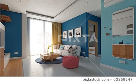 modern apartment interior. 60569247
