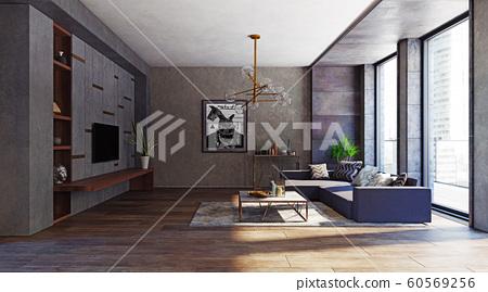 modern apartment interior. 60569256