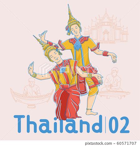 Thai traditional dance dancer 60571707