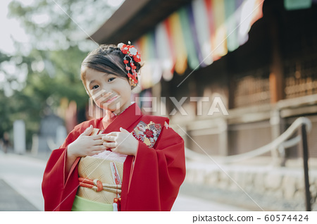 Girls Shichigosan Portrait Photography Cooperation: Takahata Fudoson 60574424