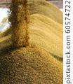 收割機倒下剛收割完的穀子 60574722