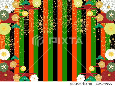 New Year's ceremony curtain background 60574955