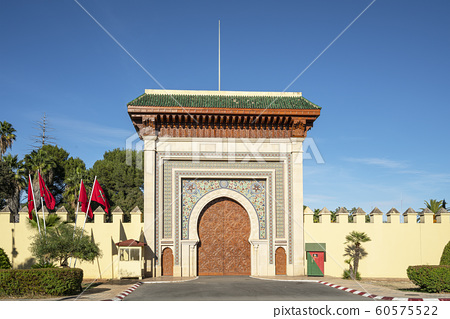 Typical arab entrance gate in Fes 60575522