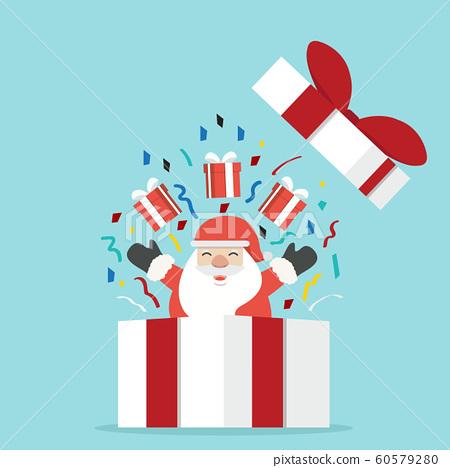 Santa Claus with gift box 60579280