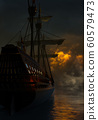 Spanish Galleon In The Night 60579473