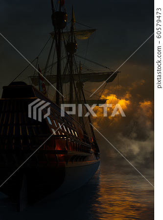 Spanish Galleon In The Night 60579473