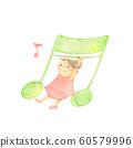女孩玩的音符 60579996