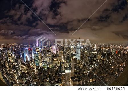 Manhattan overhead view 60586096
