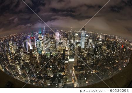 Manhattan overhead view 60586098