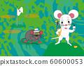 兒童和高爾夫運動愛好者的新年賀卡材料 60600053