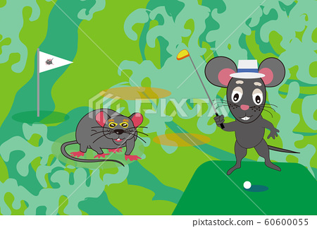 New Year's card material for child and golf sports fans 60600055
