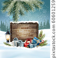 Christmas holiday background with a colorful 60601259