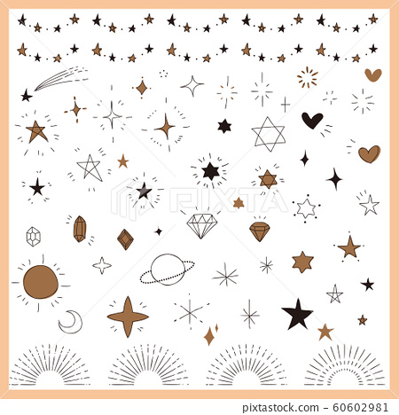 Hand drawn glitter icon set 60602981