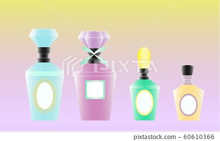 Perfume bottle milky color 4 set 60610366