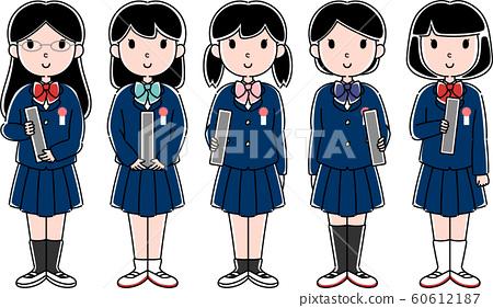 초등학생 여자 (졸업식) 60612187