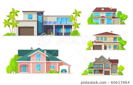 Residential architecture, mansion houses, villas 60613964