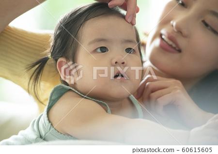 가족 엄마 유아 60615605