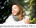 여성 야외 자연 60617811
