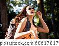 여성 야외 하이킹 60617817