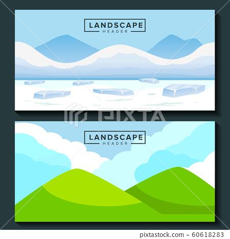 winter and spring landscape background 60618283