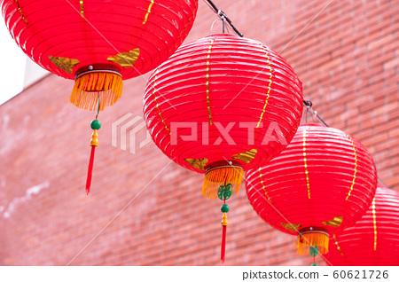 등롱 台灣 농 曆新 년 裝飾 홍색 Chinese new year lantern 랜턴 60621726