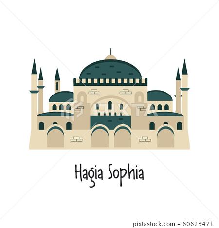 Vector illustration of Hagia Sophia in Istanbul 60623471